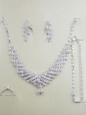 Gorgeous Alloy With Rhinestone Wedding Bridal Jewelry Set