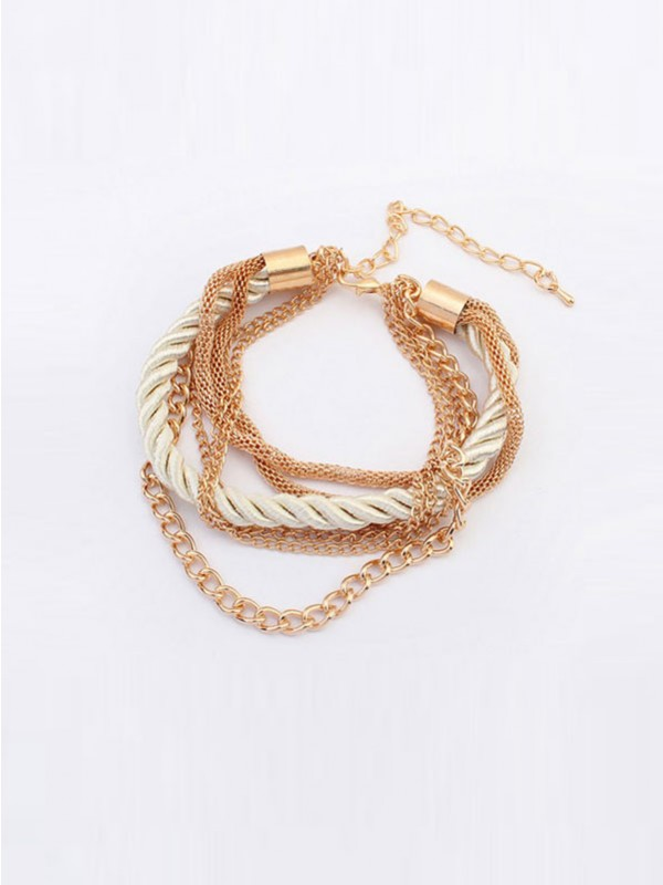Occident All-match Woven Multi-layered Fashion Bracelets