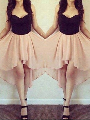 A-Line/Princess Sweetheart Sleeveless Short/Mini Chiffon Dresses
