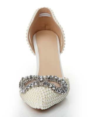 Patent Leather Cone Heel Closed Toe With Rhinestone High Heels